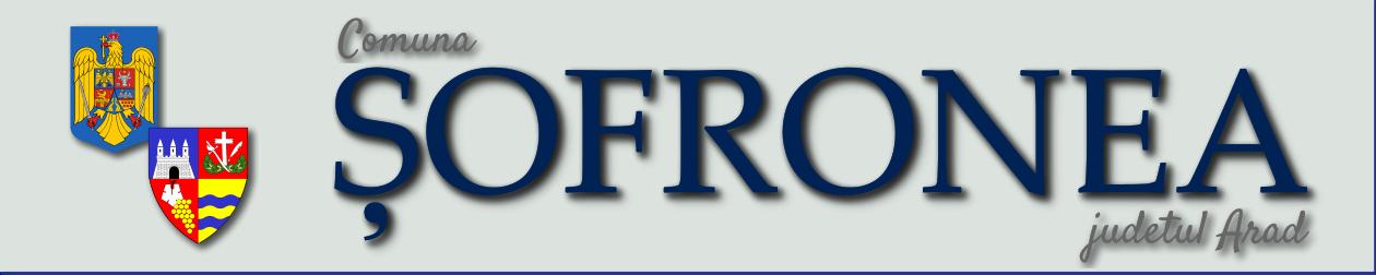 Portalul oficial al Comunei Șofronea